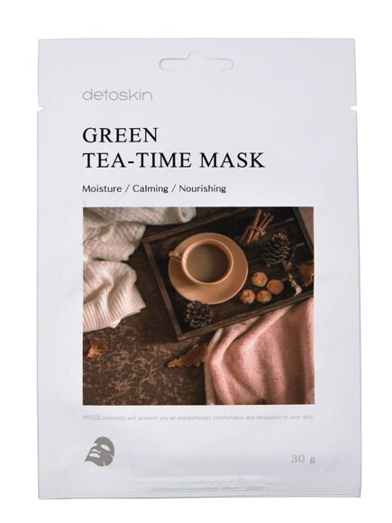 DETOSKIN. Тканевая маска с экстрактом зеленого чая, GREEN TEA-TIME MASK, 30 г